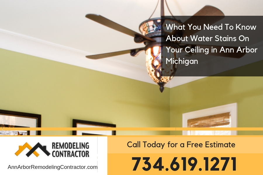 What You Need To Know About Water Stains On Your Ceiling in Ann Arbor Michigan