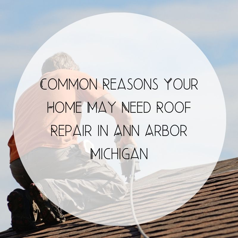 Common Reasons Your Home May Need Roof Repair in Ann Arbor Michigan